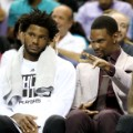 Chris Bosh Miami Heat Justise Winslow and Udonis Haslem NBA