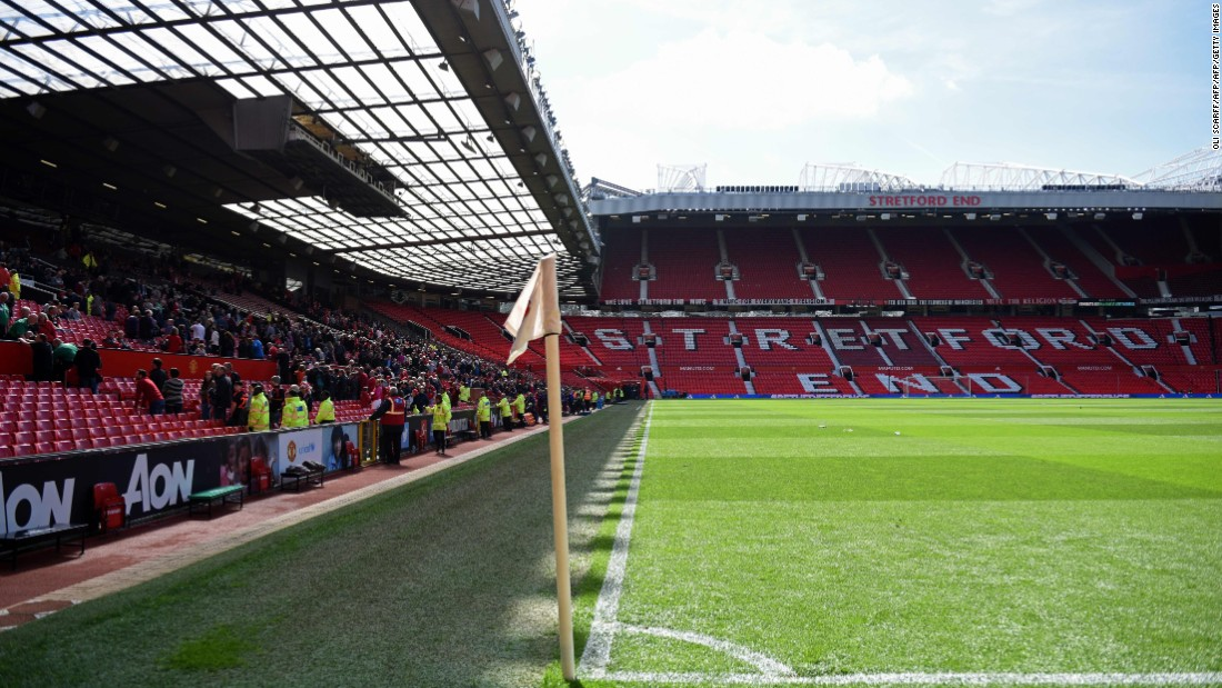 The package was found in the north-west quadrant of the stadium, which prompted evacuation of the Stretford End and the Sir Alex Ferguson stand.