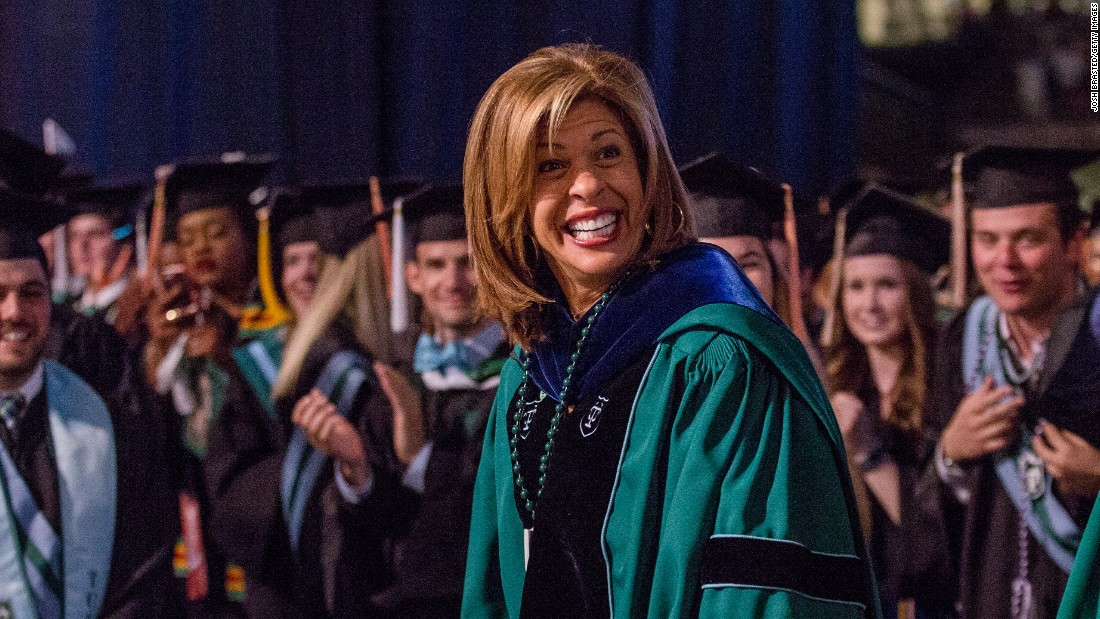 "Former New Orleans news anchor and TODAY show host Hoda Kotb got a standing ovation from Tulane University graduates for her commencement speech on May 14. Among her <a href=""http://www.today.com/news/hoda-kotb-s-tulane-commencement-speech-offers-10-life-lessons-t92671"" target=""_blank"">morsels of wisdom</a>:  You don't need everybody to like you, you just need one person."