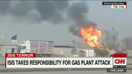 isis suicide bombers iraqi gas plant attack arwa damon the lead _00001522