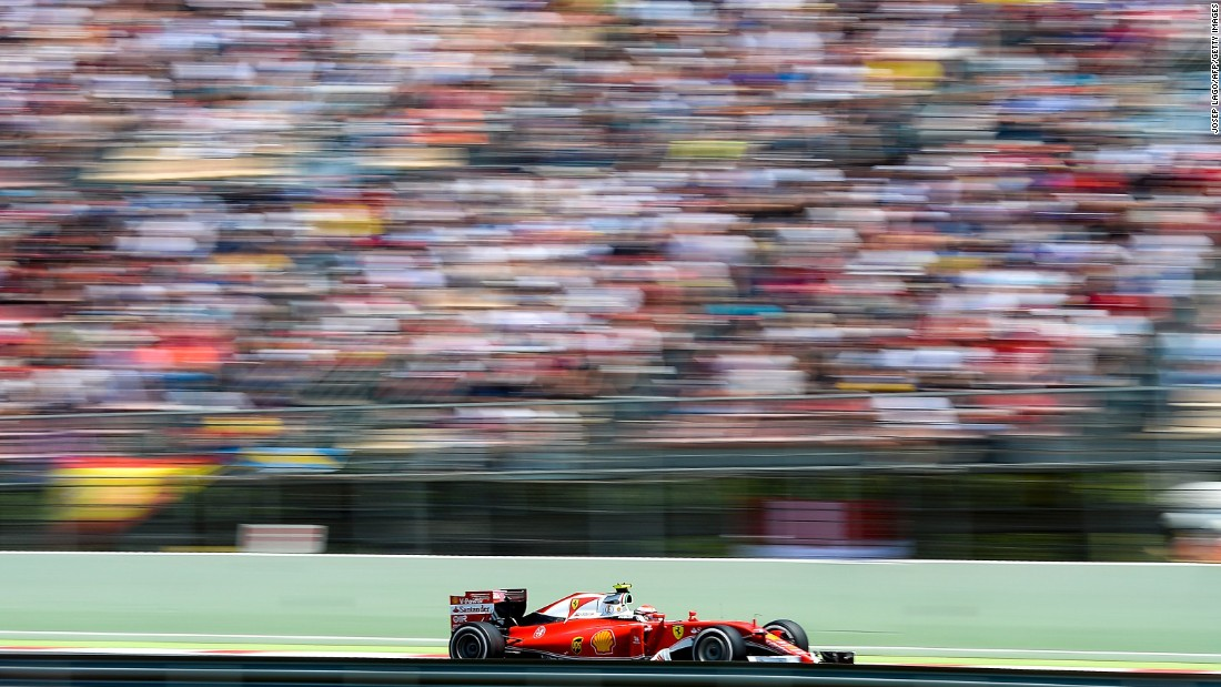 Formula One driver Kimi Raikkonen competes at the Spanish Grand Prix on Sunday, May 15.