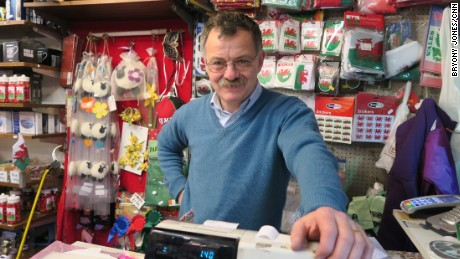 "Shopkeeper Ceredig Davies says he'll vote to stay: ""The EU provides us with a lot of help."""