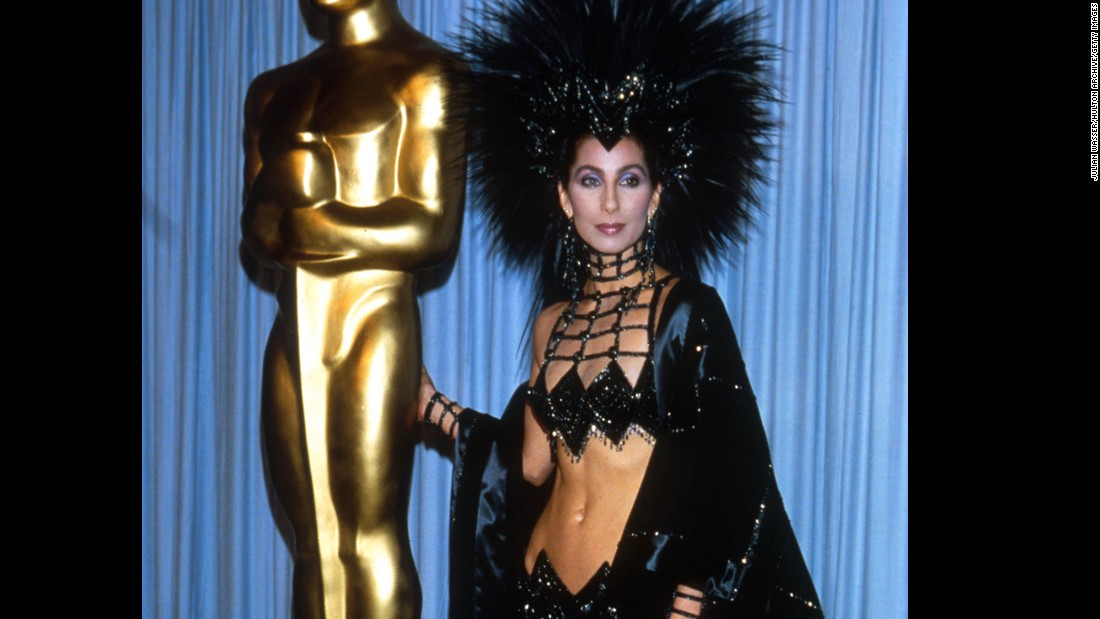 "Cher attends the Academy Awards in 1986. In 1988, she won the best actress Oscar for her role in ""Moonstruck."" Other films she has starred in include ""Mask,"" ""Silkwood"" and ""The Witches of Eastwick."""