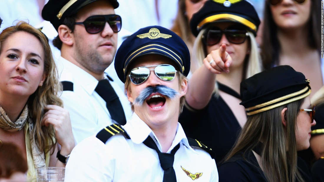With the stadium located in the flight path for Heathrow Airport, the air crew theme has proved popular.