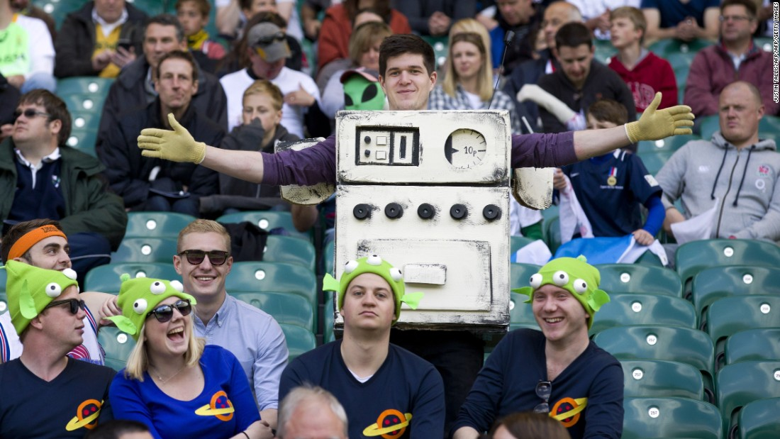 "Last year, one fan dressed as the gas cooker from the Wallace and Gromit movie ""A Grand Day Out."""