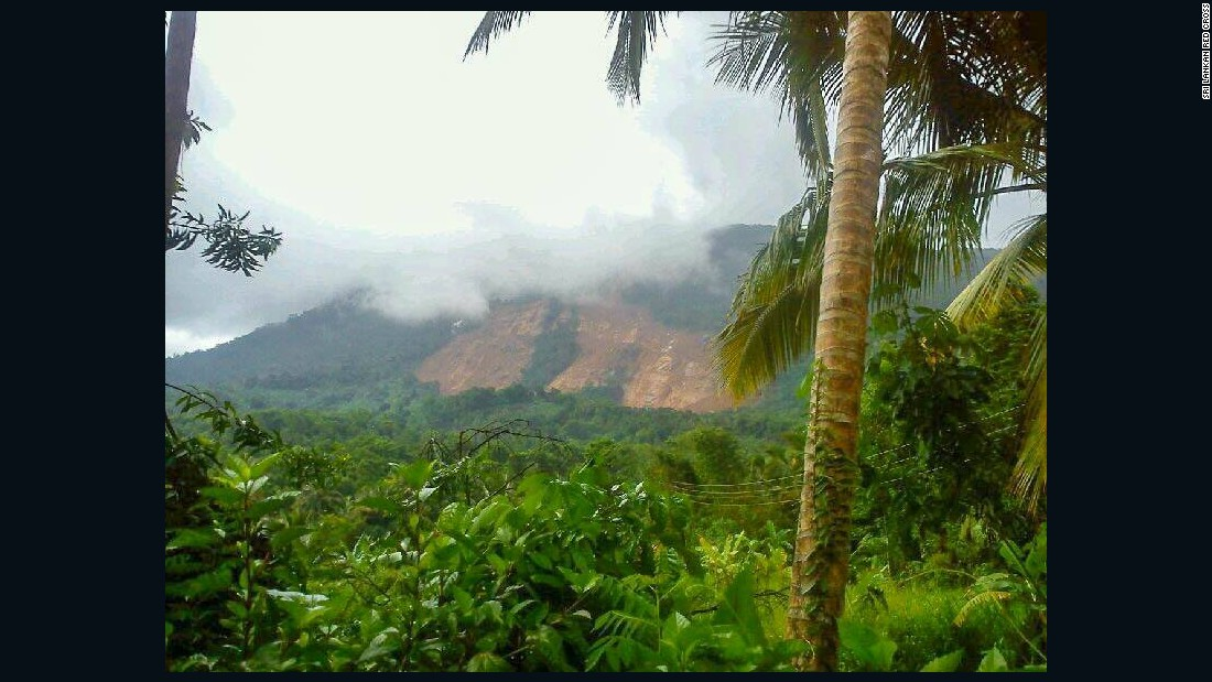 A landslide in Aranayake in central Sri Lanka buried three villages.