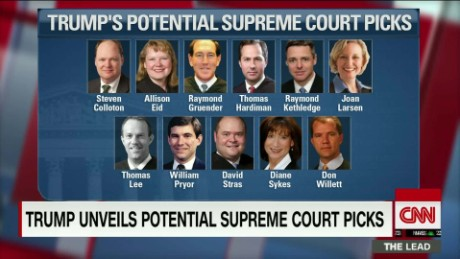 trump unveils potential supreme court picks jeffrey toobin analysis the lead live_00003009
