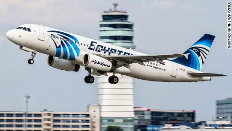 This August 2015 photo shows EgyptAir Airbus A320 with the registration SU-GCC taking off from Vienna International Airport in Austria.