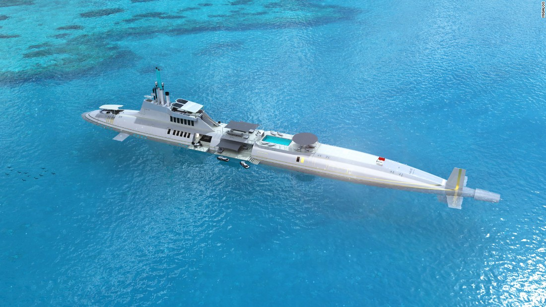 Can't decide on a superyacht or submarine for your next purchase? Then the Migaloo Private Submersible Yacht might be just the thing for you -- the luxury cruiser that lets you sail 20,000 leagues under the sea (in reality, it can dive up to 240 meters).