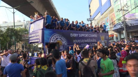 Leicester City champions parade in Bangkok