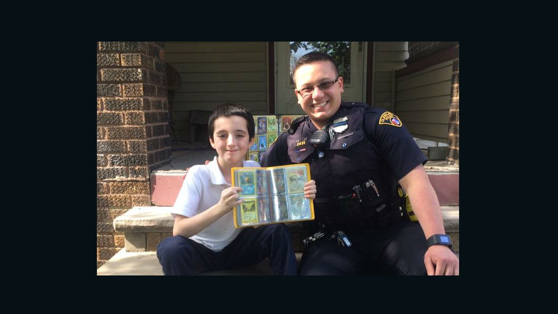 Officer replaces boy's stolen cards with Pokemon haul