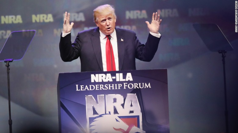 NRA endorses Trump, Trump slams Clinton