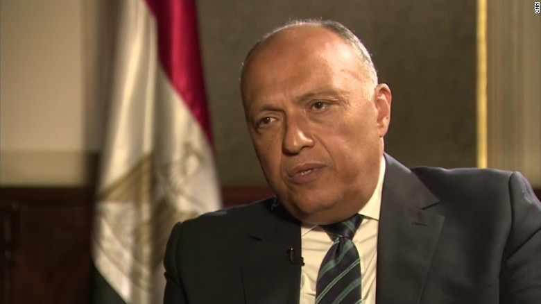 Sameh Shoukry Egypt's Foreign Minister Egyptair intv_00023426