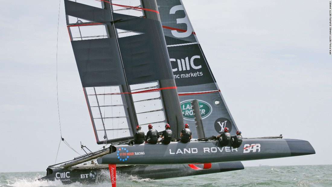 With Middleton on board, Ainslie has been testing one of his team's development yachts -- a foiling AC45 catamaran.