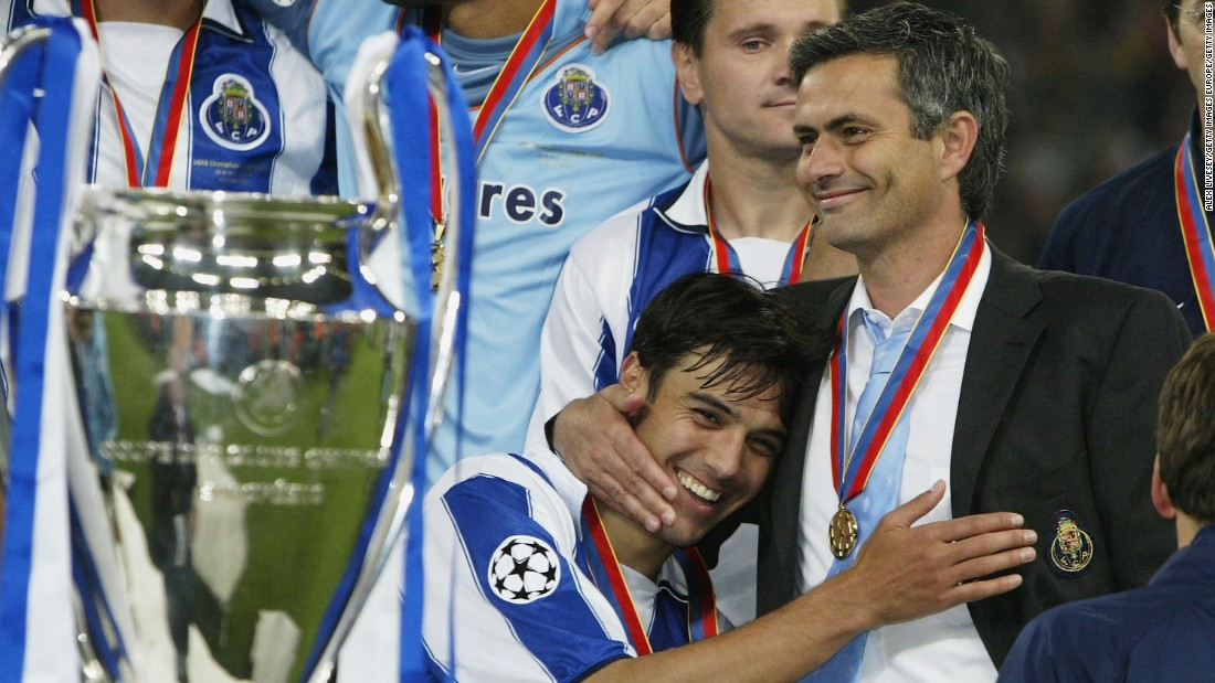 Mourinho made his name when he guided Porto to a shock Champions League win in 2004, with the Portuguese club knocking United out of the competition on its way to the trophy.