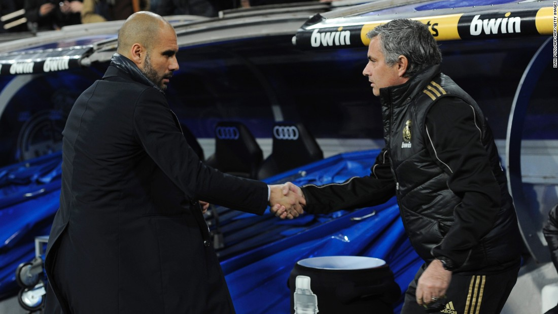 He will lock horns with old enemy Pep Guardiola next season, with the Catalan having been appointed as manager of Manchester City. Mourinho and Guardiola had a spiky relationship during their time in charge of Real and Barcelona respectively.