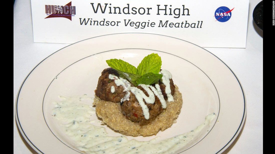 The Windsor High team called its dish Windsor veggie meatballs.