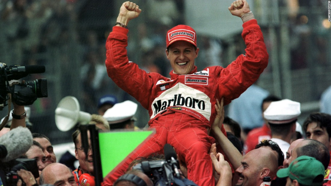 Hill's haul of five victories was equaled by Michael Schumacher in 2001.