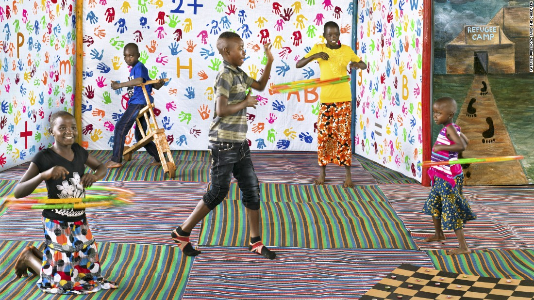 Children in the Nyarugusu Camp for refugees from Burundi show some of the different ways they play and express themselves in Save the Children's 'Child Friendly Spaces' in the camp.