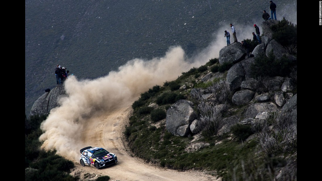 Norway's Andreas Mikkelsen drives through Matosinhos, Portugal, during a World Rally Championship race on Saturday, May 21.