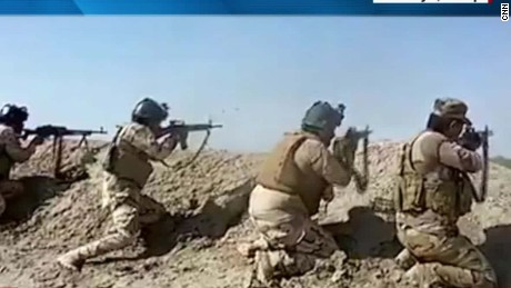 Iraqi forces and militias battling ISIS in Falluja