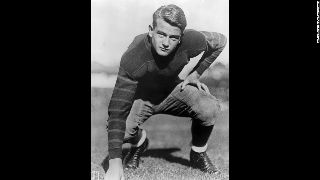 Before his acting career, Wayne attended the University of Southern California and played offensive lineman on the football team.