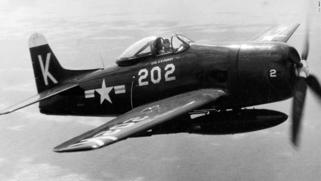 Jesse Leory Brown in an F8F Bearcat a year before deploying to Korea.