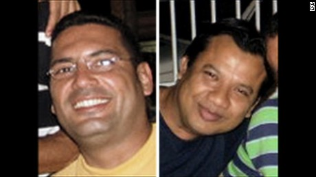 RTN correspondent Diego D'Pablos, left, and cameraman Carlos Melo also disappeared.