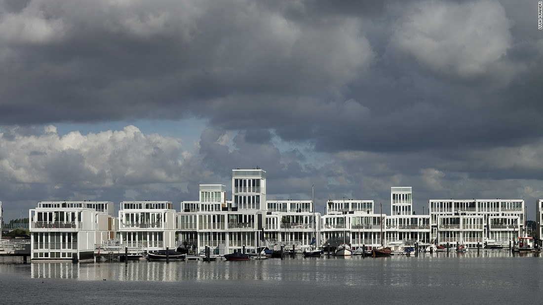 The floating houses of Ijburg in Amsterdam.