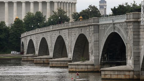 Memorial Bridge over the Potomac River in Washington is also classified as structurally deficient.