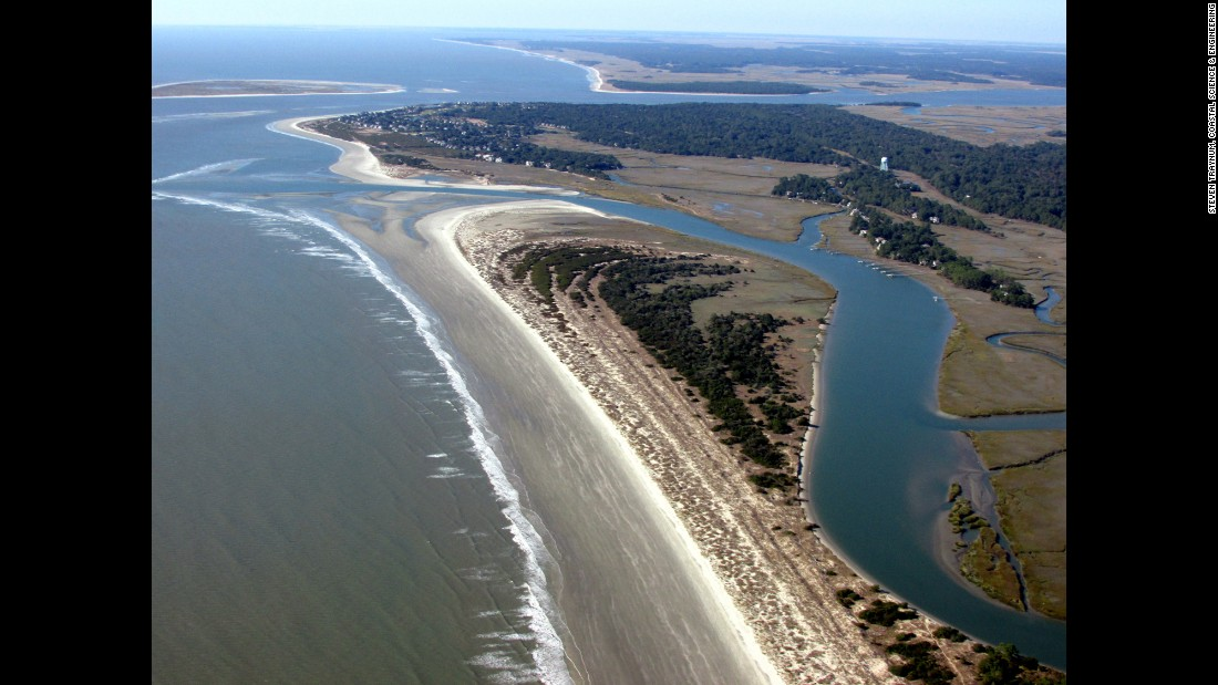 South of Charleston, South Carolina, on the southern end of Kiawah Island, you'll find miles of untouched beach at Beachwater Park.
