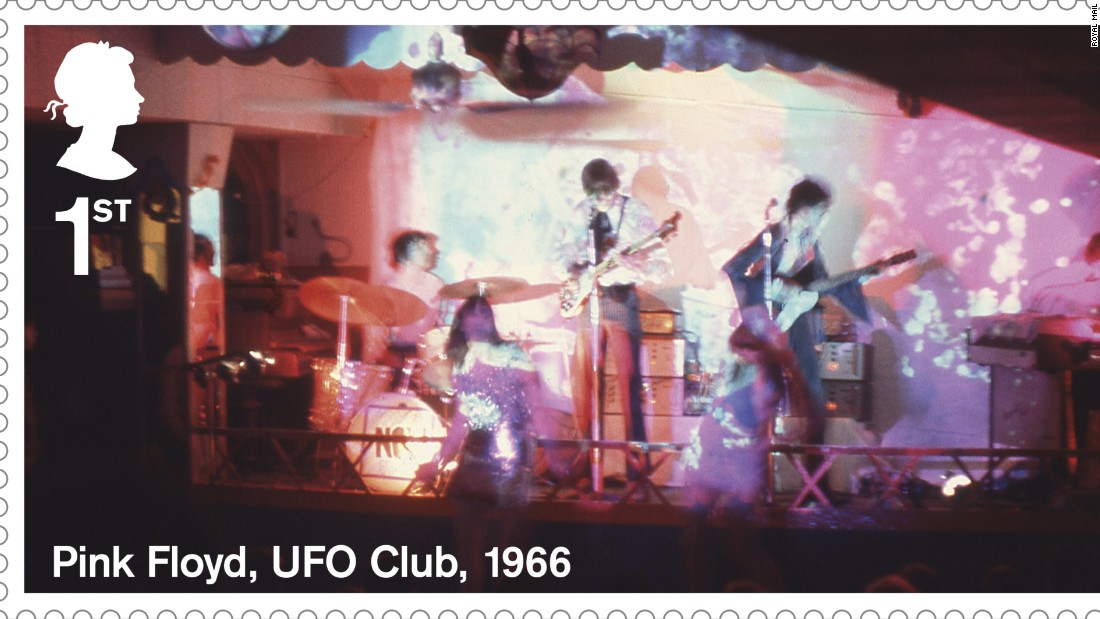Pink Floyd performing at the UFO Club in 1966