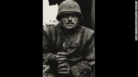 Don McCullin's shell-shocked U.S. Marine during the Vietnam war
