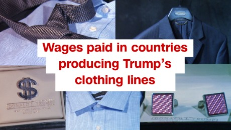Trump clothes made in countries with cheap labor