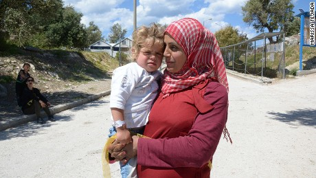 Most refugees are  settled for now at Lesbos's Kara Tepe  camp.