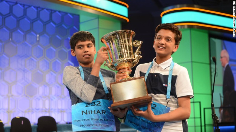 Two champions celebrate 2016's National Spelling Bee