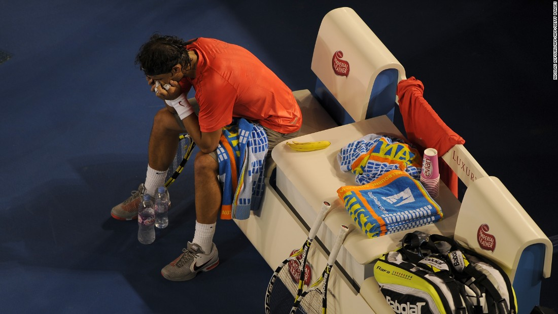 In 2011, trying to win a fourth consecutive grand slam at the Australian Open he suffered a hamstring injury in the quarterfinals.