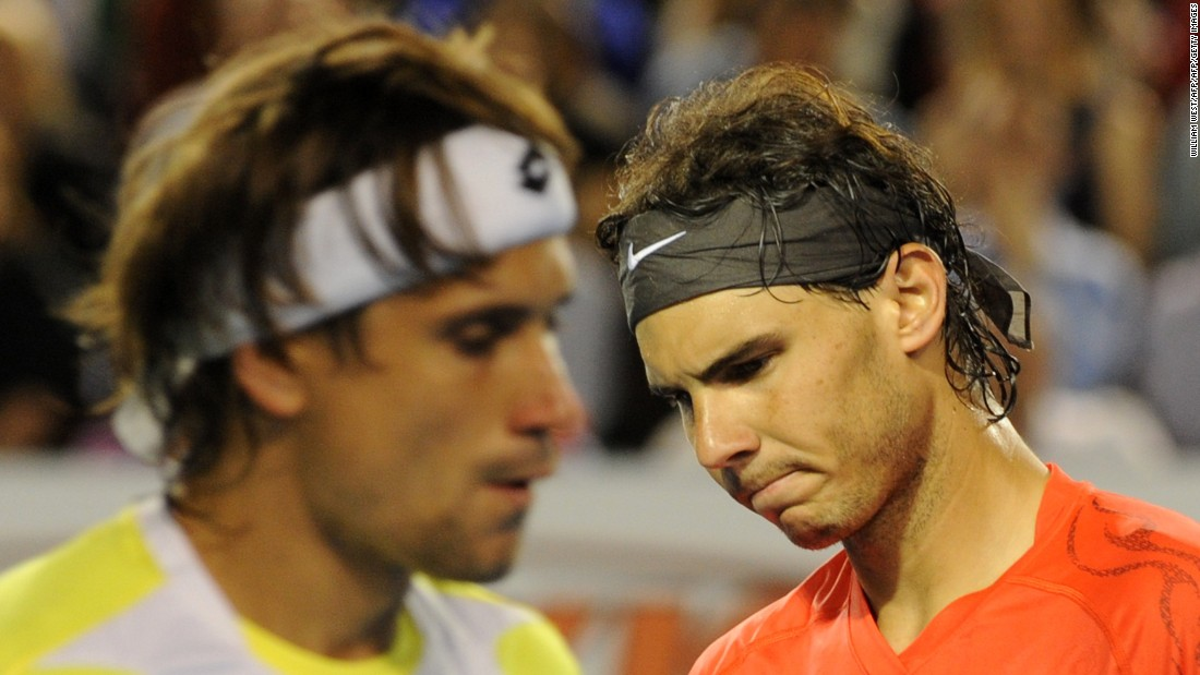 "Countryman David Ferrer beat Nadal to quash hopes of a ""Rafa Slam."""