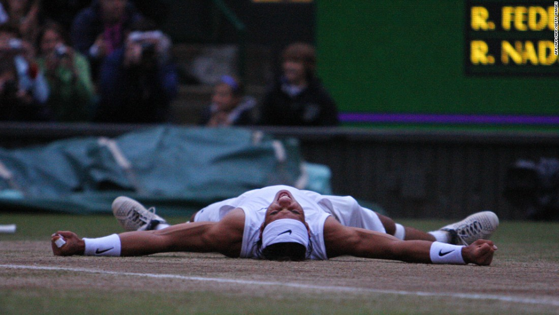 In 2008, Nadal won what is considered by many to be the greatest tennis match of all time at Wimbledon, ousting Federer in the final. But he missed the 2009 edition because of knee problems.