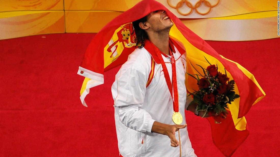 Nadal won the gold medal at the Olympics in 2008 in Beijing but couldn't defend his crown in 2012 in London, with yet more knee issues.