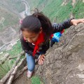 China cliff child 2