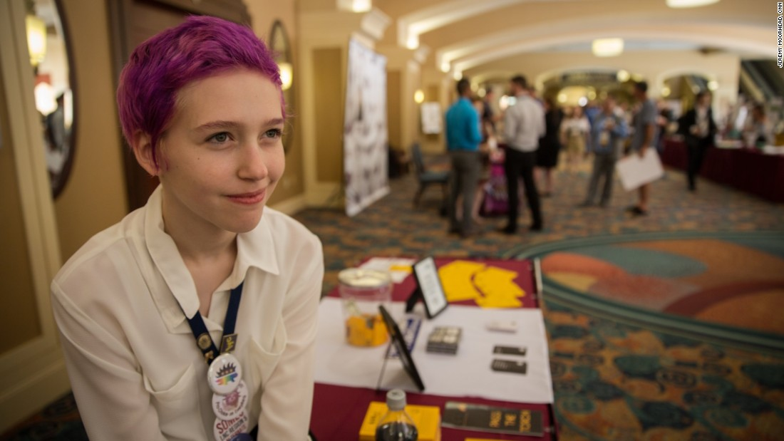 """I'm the youngest delegate,"" Vina Love, age 15, said. ""I have a voice. I can vote, which is always refreshing to have."""