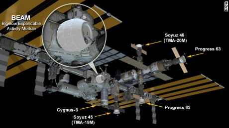 The International Space Station now hosts the new fully expanded and pressurized Bigelow Expandable Activity Module (BEAM).
