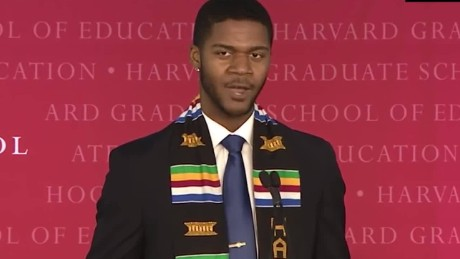 Harvard graduate's unique speech goes viral