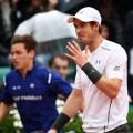 Roland Garros Rain French Open Andy Murray Smile gesture