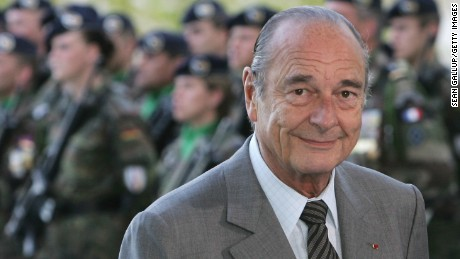 Former French leader Jacques Chirac.