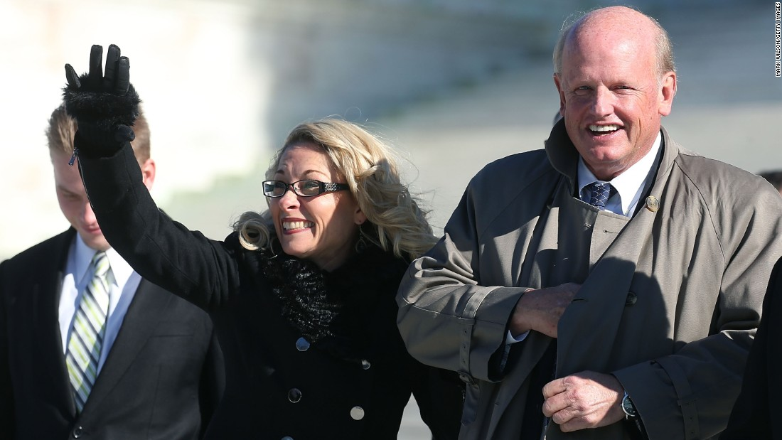 "<strong>Public-sector unions</strong>: Rebecca Friedrichs, lead plaintiff in the case Friedrichs v. the California Teachers Association, walks with lead counsel Michael Carvin after the U.S. Supreme Court began hearing arguments on the case in January. The ruling in March <a href=""http://www.cnn.com/2016/03/29/politics/scotus-4-4-decision-hands-public-sector-unions-a-victory/"" target=""_blank"">was split 4-4,</a> so the lower-court decision was affirmed in a victory for public-sector unions. At issue was whether non-members of a public-sector union could still be compelled to pay fees for collective bargaining that goes to issues such as wages and grievances."