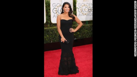 Gina Rodriguez loaned this dress from the 72nd Annual Golden Globe Awards held at the Beverly Hilton Hotel on January 11, 2015.