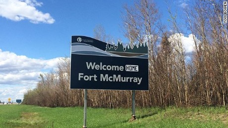 Alberta wildfire: 'Welcome home Fort McMurray'
