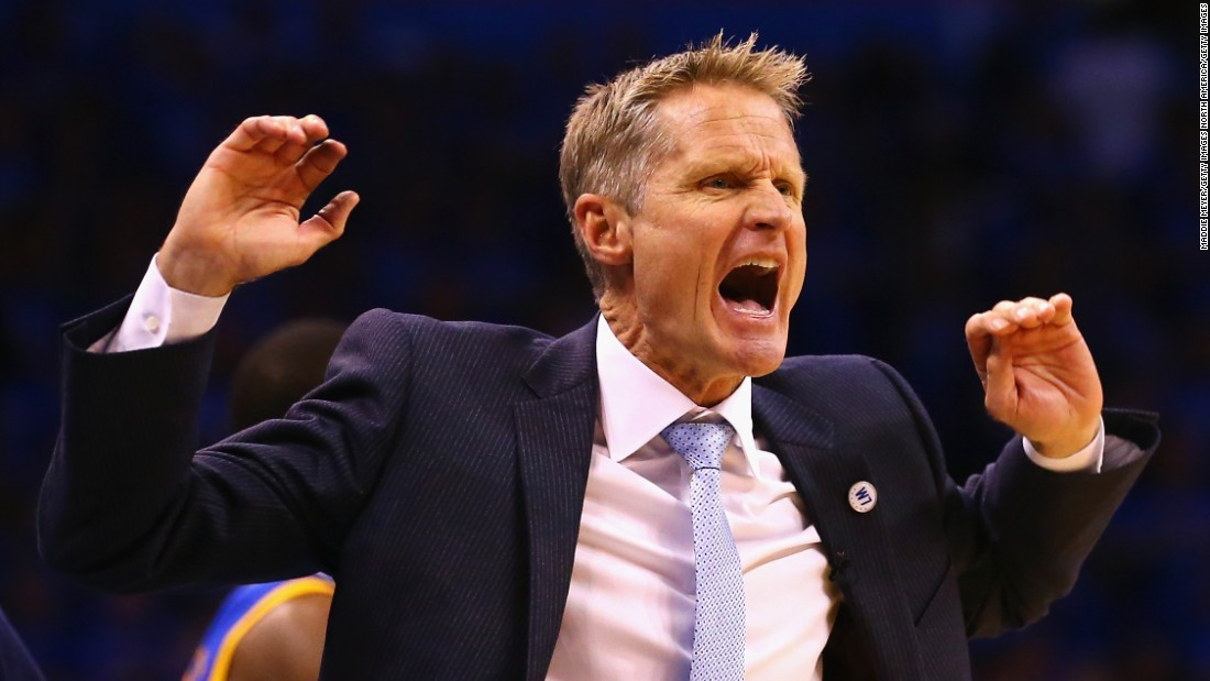 Head coach Steve Kerr sat out the first 43 games of the Warriors' record-breaking season after undergoing back surgery in the offseason. His adjustments in the 2015 finals were credited for turning the series around.